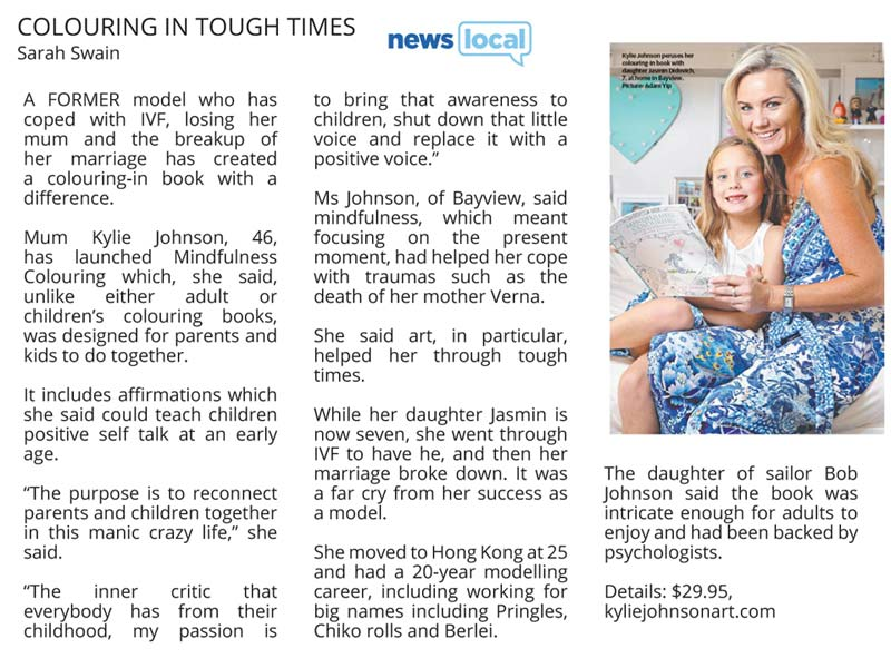 Colouring in Tough Times Interview by Sarah Swain Manly Daily Local News